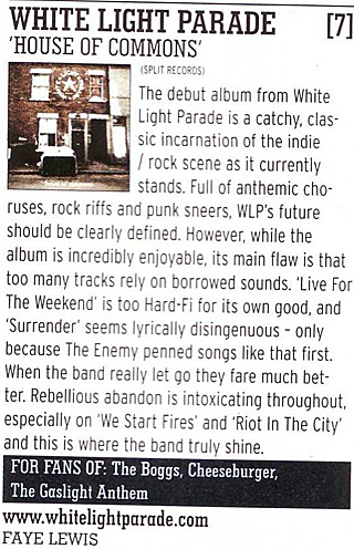 White Light Parade, House of Commonos reviewed in RockSound
